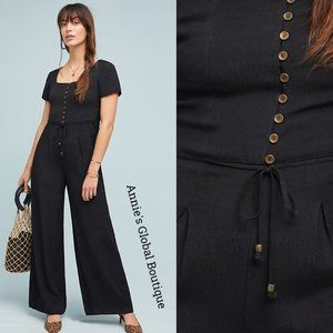 HTF NWT ANTHROPOLOGIE Sienna Lace-up Side Jumpsuit